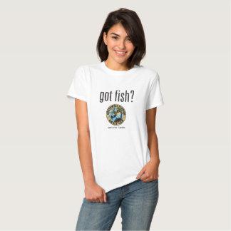 ¿Pescados conseguidos? Camisa de la leva de la