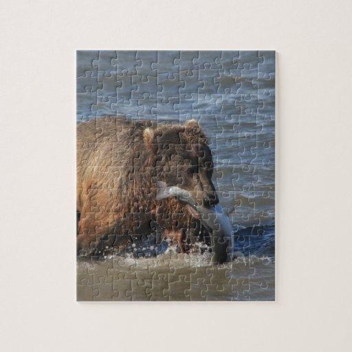 ¿Pescados conseguidos? Regalos del oso de Alaska B Puzzles Con Fotos