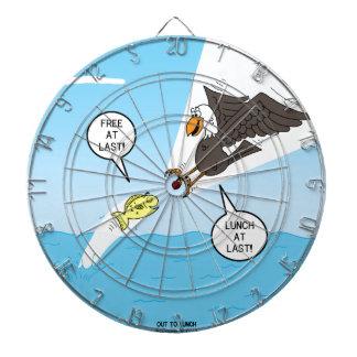 Pescados contra perspectiva del pájaro