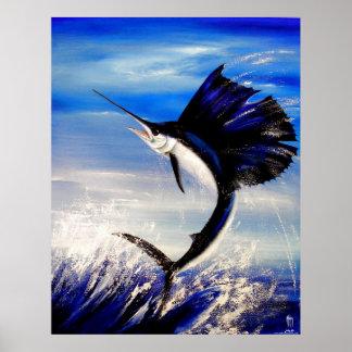 """Pescados """"coqueteo """" de la vela póster"""