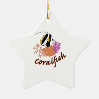 Pescados coralinos adorno de cerámica en forma de estrella