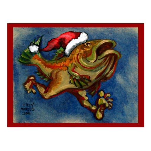Pescados corrientes para Navidad del inconformista Tarjeta Postal