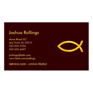 Pescados cristianos el   tarjetas de visita