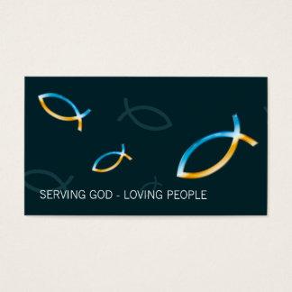 Pescados cristianos tarjetas de visita