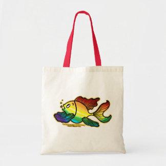 Pescados de arco iris bolsa tela barata