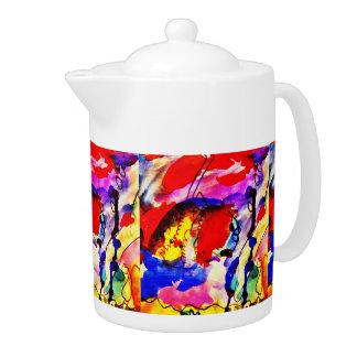 Pescados de arco iris del arte abstracto de los