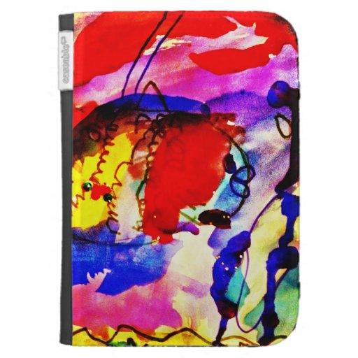Pescados de arco iris del arte abstracto de los ni