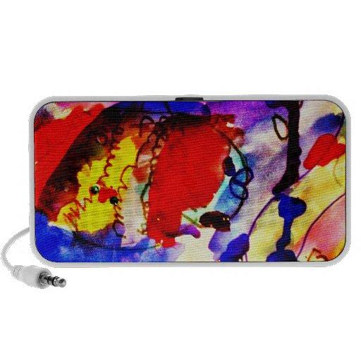 Pescados de arco iris del arte abstracto de los ni portátil altavoz