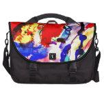Pescados de arco iris del arte abstracto de los ni bolsas para portatil