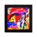 Pescados de arco iris del arte abstracto de los ni cajas de joyas
