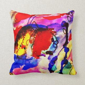 Pescados de arco iris del arte abstracto de los ni almohadas