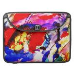 Pescados de arco iris del arte abstracto de los ni fundas para macbooks