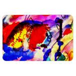 Pescados de arco iris del arte abstracto de los ni iman de vinilo