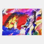 Pescados de arco iris del arte abstracto de los ni toallas