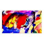 Pescados de arco iris del arte abstracto de los ni tarjetas de visita