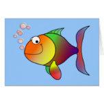 Pescados de arco iris felices felicitacion