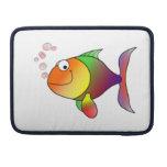 Pescados de arco iris felices funda macbook pro
