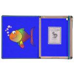 Pescados de arco iris felices iPad protector