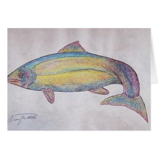 pescados de arco iris felicitacion