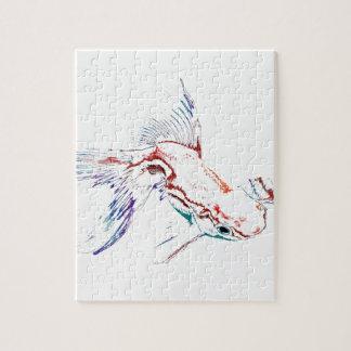 Pescados de arco iris/Goldfish/Koi multicolores de Puzzles