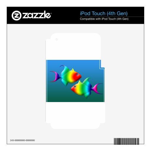 Pescados de arco iris iPod touch 4G skin