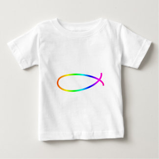 Pescados de arco iris playera de bebé