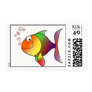 Pescados de arco iris franqueo