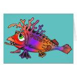 Pescados de arco iris tarjetas