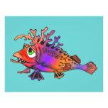Pescados de arco iris tarjeton