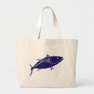 Pescados de atún de Bluefin Bolsa Tela Grande