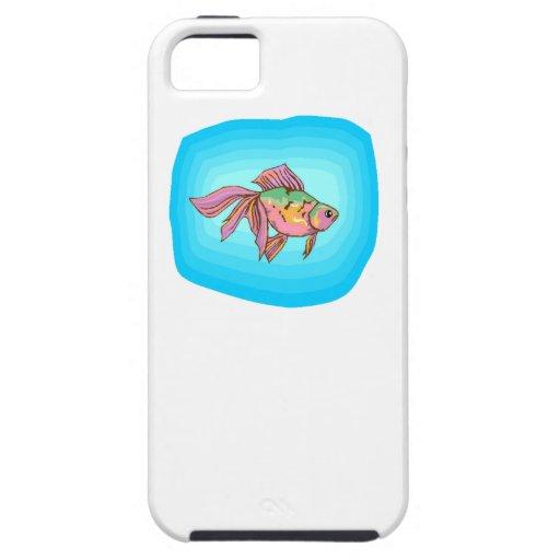 Pescados de Betta del arco iris iPhone 5 Case-Mate Funda