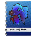 Pescados de Betta del dibujo animado/pescados que  Notebook