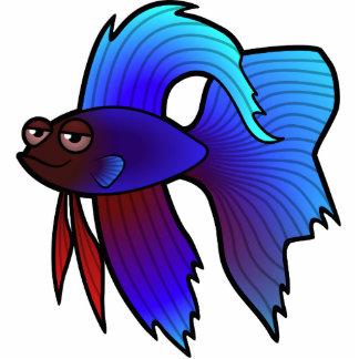Pescados de Betta del dibujo animado pescados que Esculturas Fotograficas