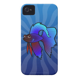 Pescados de Betta del dibujo animado/pescados que  iPhone 4 Funda