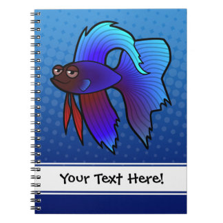 Pescados de Betta del dibujo animado/pescados que  Libretas Espirales