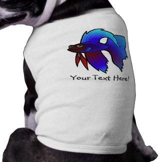 Pescados de Betta del dibujo animado/pescados que  Playera Sin Mangas Para Perro