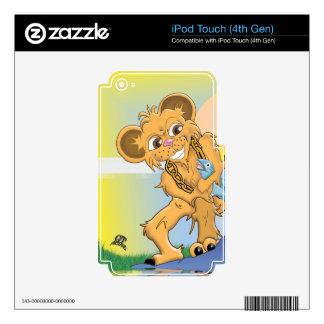 Pescados de cogida del oso calcomanías para iPod touch 4G