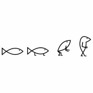 Pescados de desarrollo de Jesús - recorte Fotoescultura Vertical