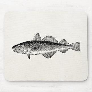 Pescados de Dorse del vintage - espacio en blanco Alfombrilla De Ratón