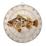 Pescados de escorpión del vintage - impresión hawa