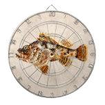 Pescados de escorpión del vintage - impresión hawa tabla dardos