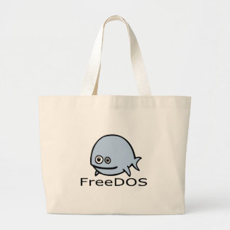Pescados de FreeDos - azul con nombre Bolsa Tela Grande