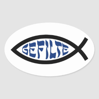 Pescados de Gefilte Jesús Etiqueta
