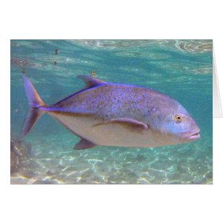 Pescados de Hawaii Trevally Tarjeta De Felicitación
