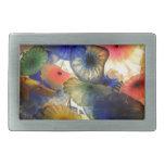 Pescados de jalea abstractos brillantes hebillas de cinturon rectangulares