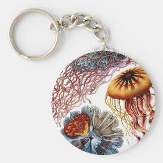 Pescados de jalea de Ernst Haeckel Llavero Redondo Tipo Pin