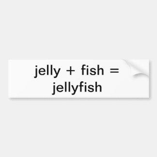 pescados de jalea pegatina para auto