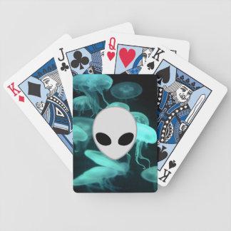 pescados de jalea que brillan intensamente con all baraja cartas de poker