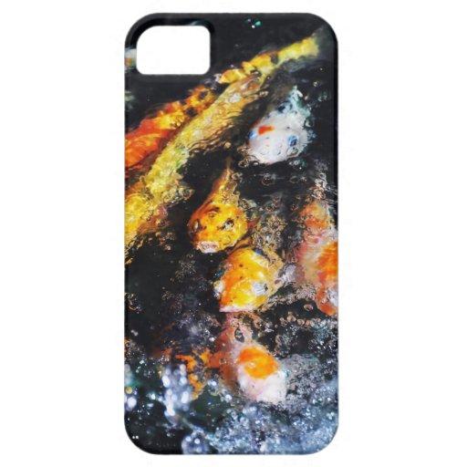 Pescados de Koi (4) iPhone 5 Fundas