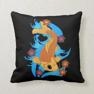 Pescados de Koi del dragón de agua, almohada
